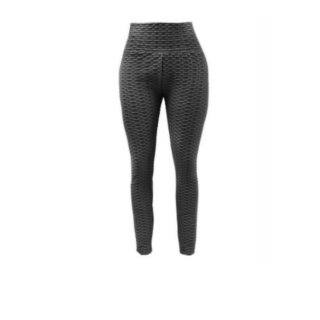 Anti-Cellulite Leggings Sport Hose Kompressoon Grau S-M