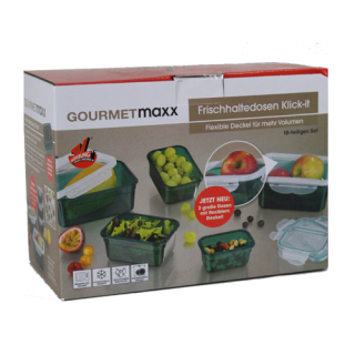 Frischhalte Set 10tlg. - Klick-It - GourmetMaxx