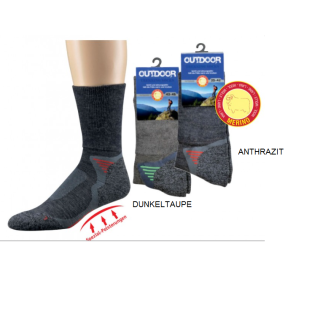 OUTDOOR Trekking Socks dunkeltaupe 43-46